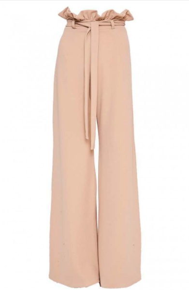 SARAH ASHCROFT NUDE FLARED HIGH WAISTED PAPERBAG TROUSERS £24.99